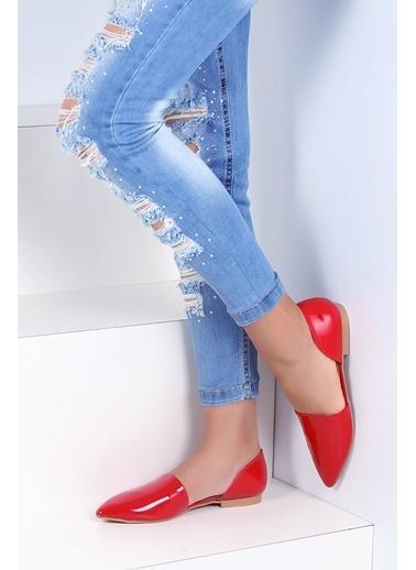 Pembe Potin Ayakkabı Kırmızı